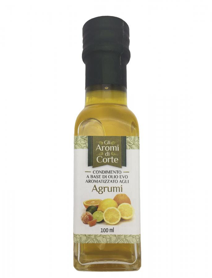Масло оливковое с ароматом цитрусовых 100 мл, La Corte d'Italia, Olio EVO agli agrumi 100 ml, La Corte d'Italia
