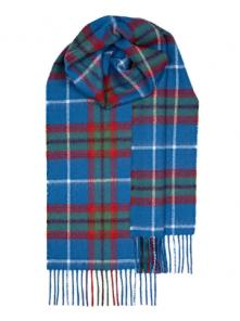 теплый шотландский шарф 100% шерсть ягнёнка , официальный тартан столицы Шотландского Королевства -города Эдинбург EDINBURGH TARTAN LAMBSWOOL SCARF