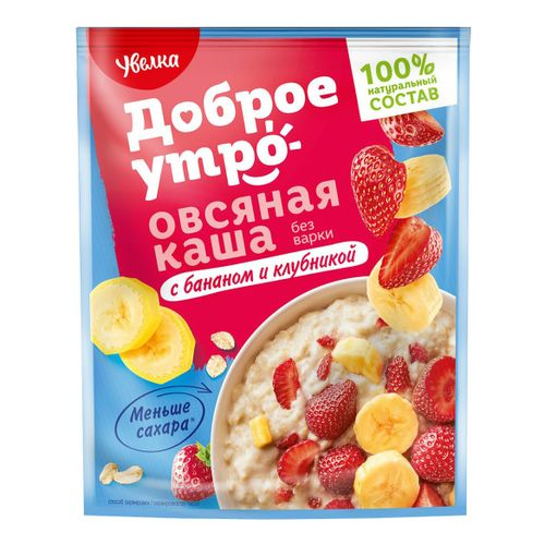 Каша Увелка 40г Овсяная банан клубника