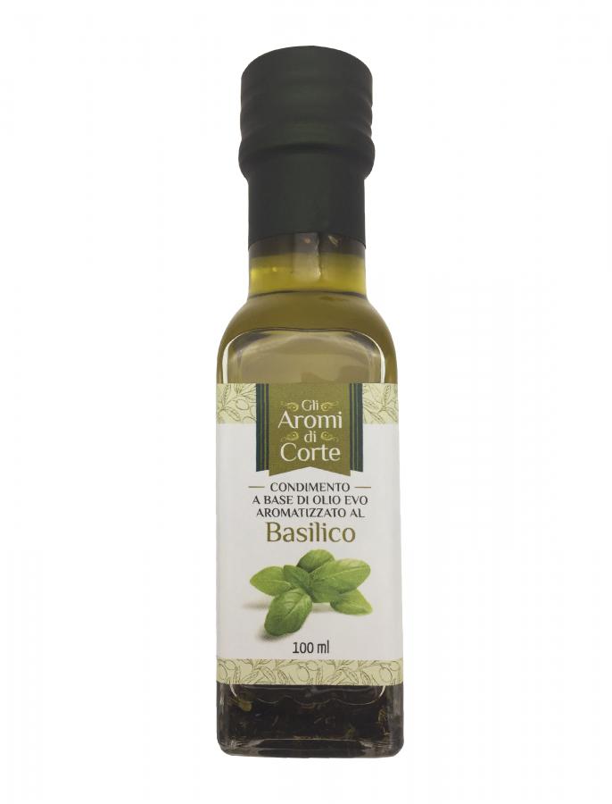 Масло оливковое с базиликом 100 мл, La Corte d'Italia, Olio EVO al basilico 100 ml, La Corte d'Italia