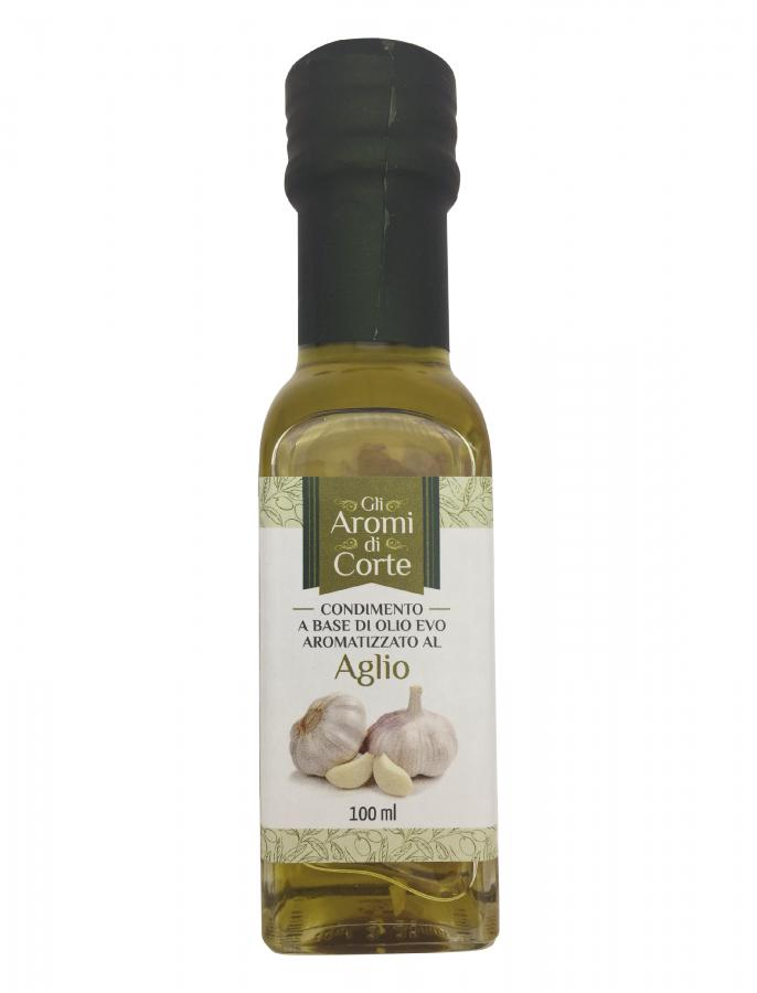 Масло оливковое с чесноком 100 мл, La Corte d'Italia, Olio EVO all'aglio 100 ml, La Corte d'Italia