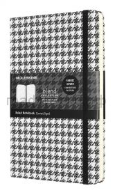 Книжка зап.Moleskine Large BLEND линейка текстиль белый/черный LCBD07QP060B