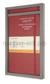 Набор Moleskine блокнот Classic Large линейка красный + ручка GO PEN BUNDVLGGOF2