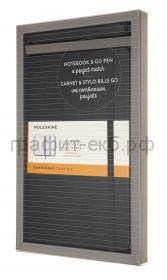 Набор Moleskine блокнот Classic Large линейка черный + ручка GO PEN BUNDVLGGOBK