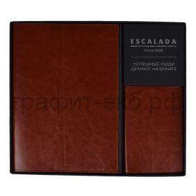 Набор Феникс+ САРИФ Книжка зап. А5+ 120л.кл.+ обложка для паспорта коричневый 52906