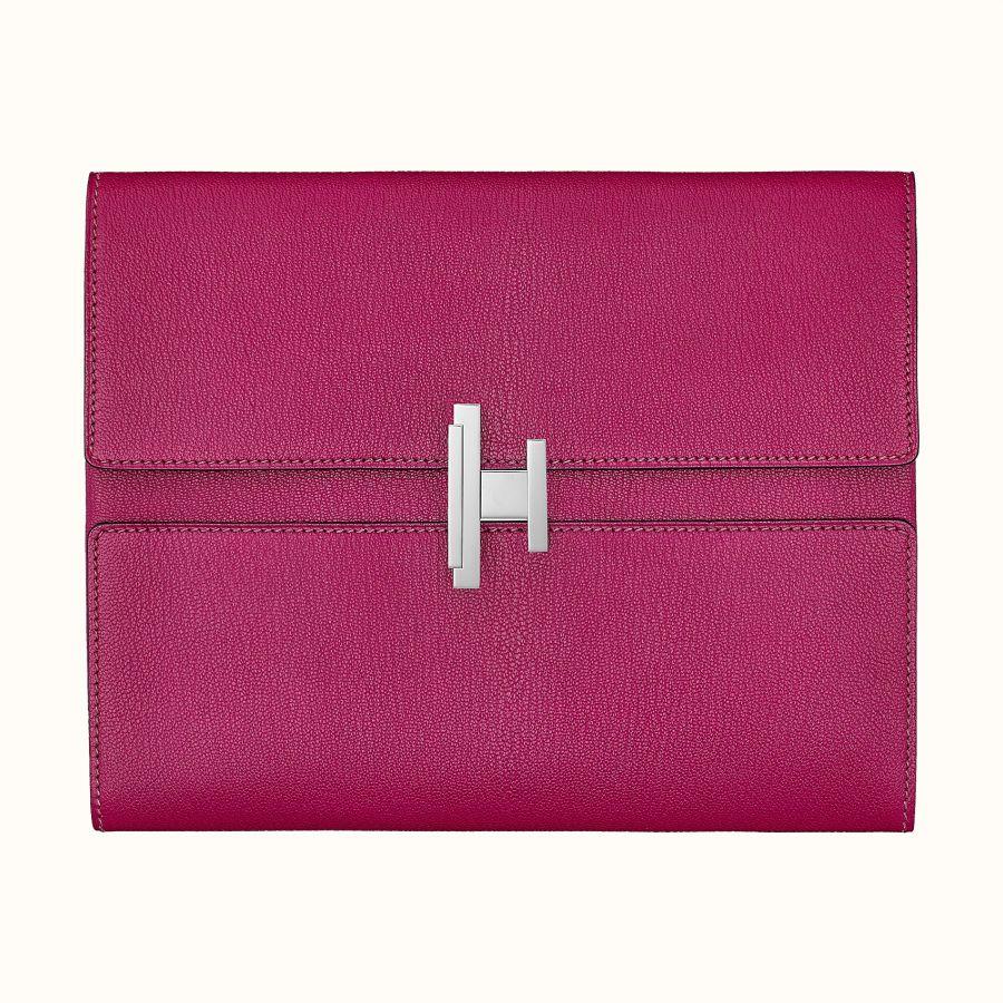 Клатч Hermes Cinhetic clutch (Rose Pourpre)
