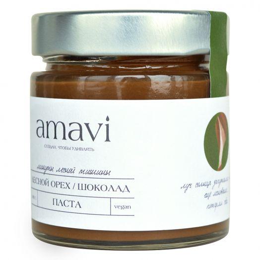 """Шоколадная паста Amavi """"Лесной орех/Шоколад"""" 180гр"""