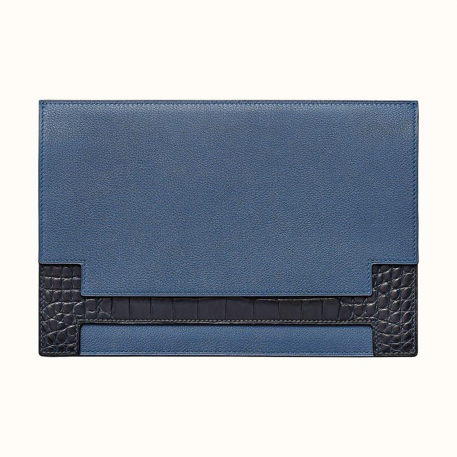 Клатч Multiplis Hermes document holder (Bleu Brighton/Bleu Marine)