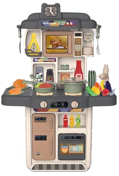 383-053A Детская кухня с холодильником, микроволновкой и посудомойкой. Настоящие вода и пар.