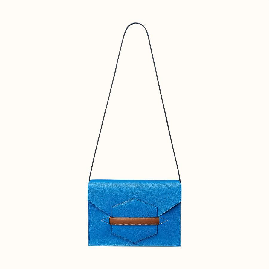 Клатч Hermes Faco II clutch (Bleu Zanzibar/Fauve)