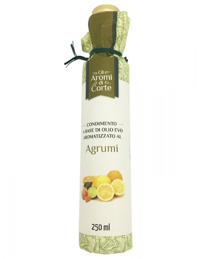 Масло оливковое с ароматом цитрусовых (дорическая) 250 мл, La Corte d'Italia. Bottiglia Dorica Agrumi 250 ml, La Corte d'Italia