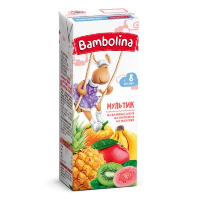 Нектар Bambolina 200мл Мультифрукт д/дет с 8мес