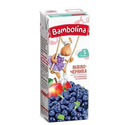 Нектар Bambolina 200мл Ябл/Черника с мяк. д/дет с 5мес