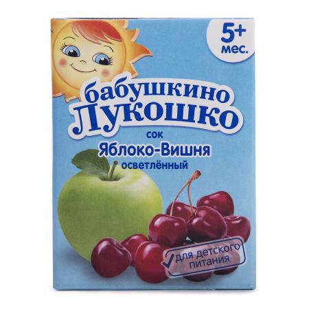 Сок Бабушкино Лукошко яблоко/вишня осв 200мл т/п
