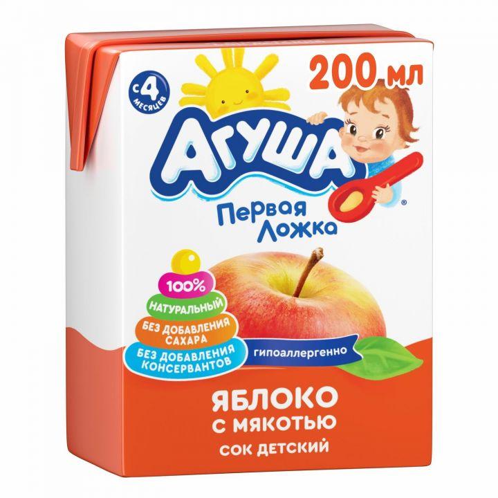Сок Агуша 200 мл яблоко с мяк. б/с фн