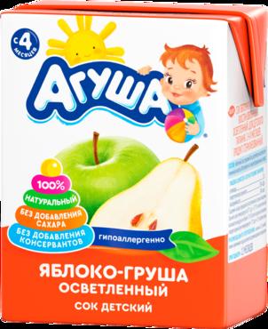 Сок Агуша 200 мл яблоко/груша фн