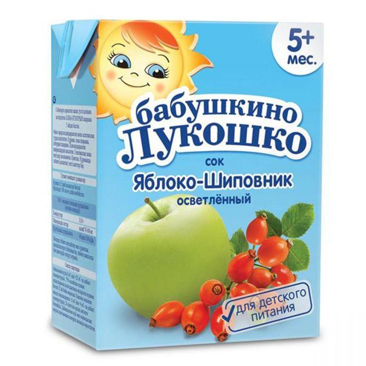 Сок Бабушкино Лукошко яблоко/шиповник 200мл т/п