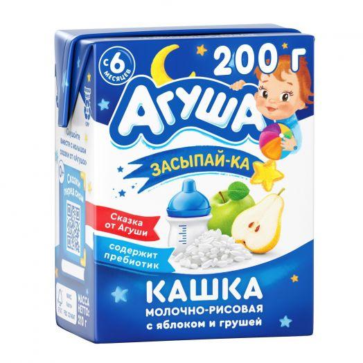 Каша Агуша молочно-рисовая яблоко/груша 200мл т/п
