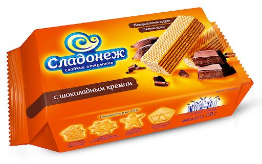 Вафли шоколад 170г Сладонеж