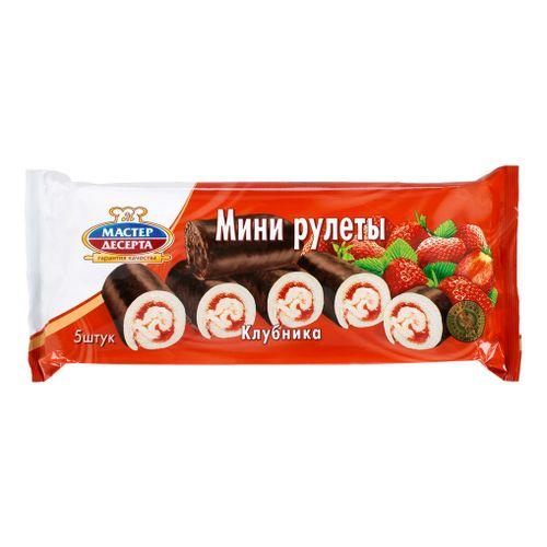 Мини-рулеты Мастер Десерта с клубничной начинкой 175г