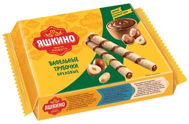 Вафли Трубочки Ореховые 190г Яшкино