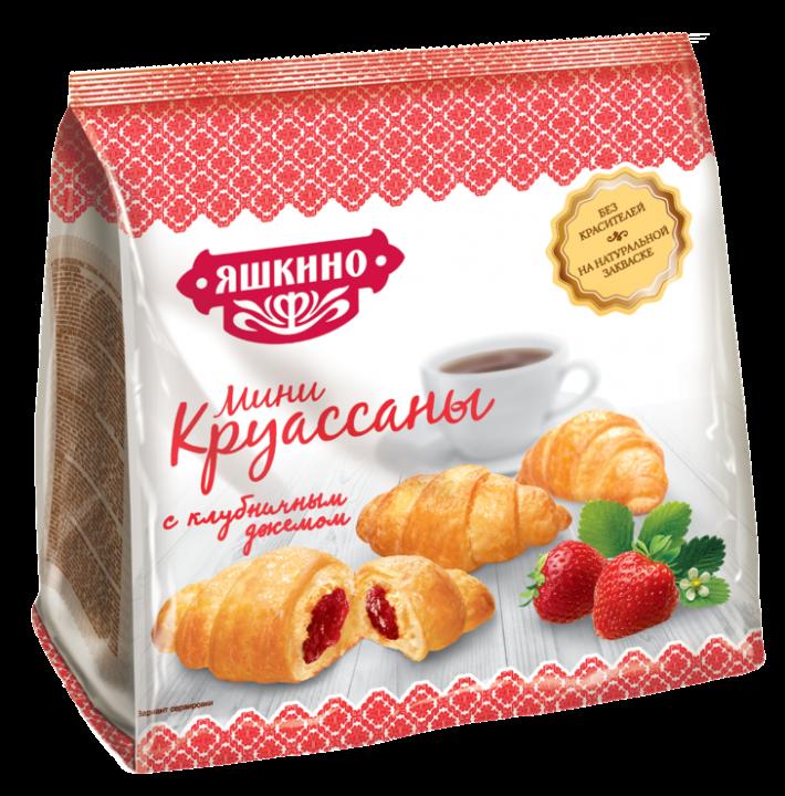 Круассаны Мини клубника-джем 180г Яшкино