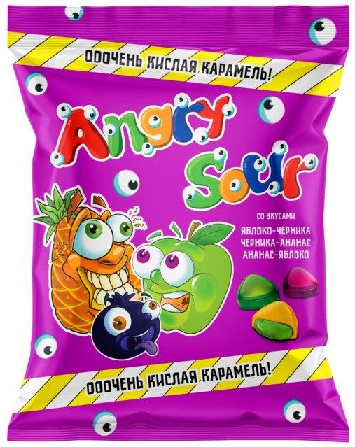 Карамель Кислинка Angry Sour с жел.нач. 250г Богатырь
