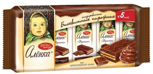 Бисквит Аленка шоколадный крем 200г