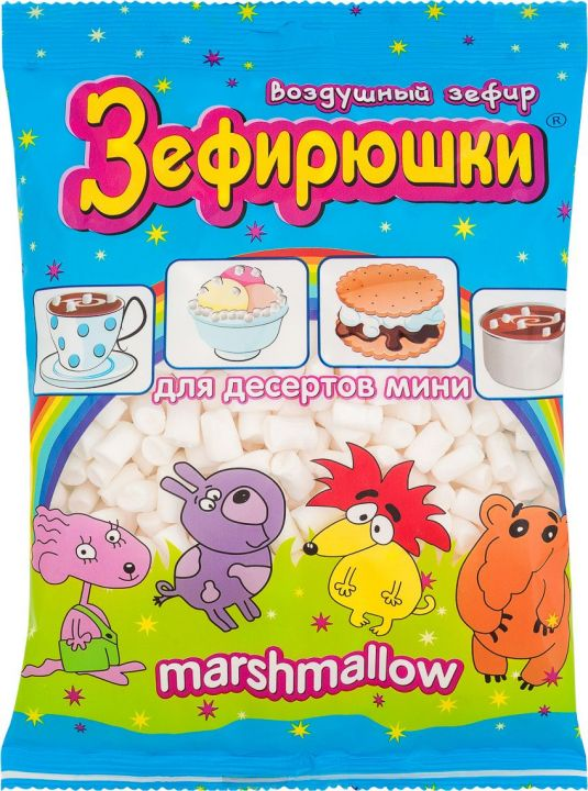 Зефир Воздушный для десертов мини 125г Сладкая Сказка