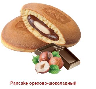 Печенье Оладьи Панкейк с орехово-шоколодным кремом 0.5кг. Слакон