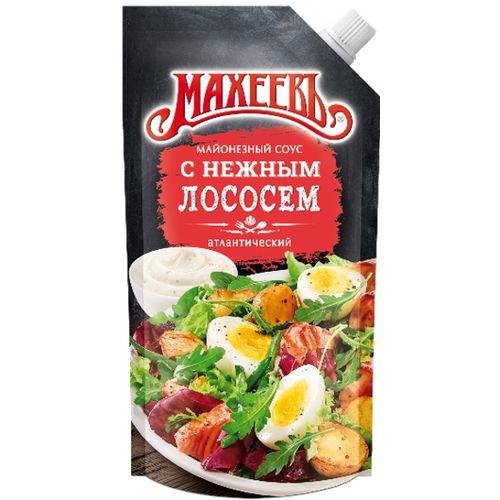 Соус майонезный Махеевъ С нежным лососем 200г д/п
