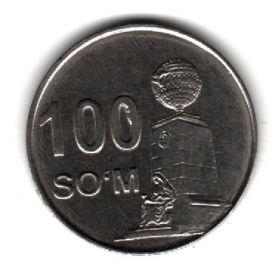 Узбекистан 100 сумов 2018