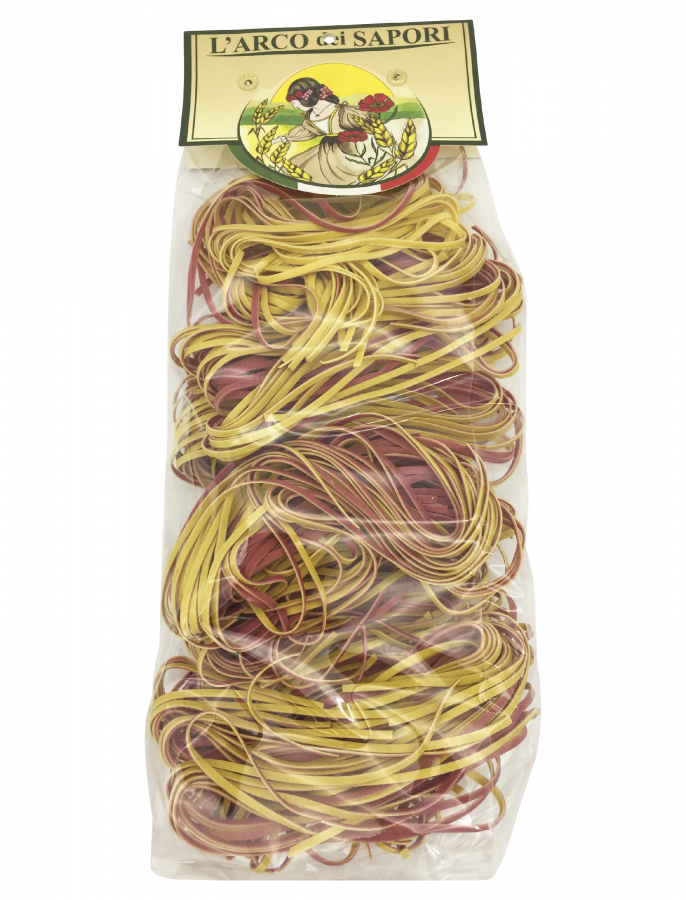 Паста клубок желто-красная 250 г , Le Matasse gialle e rosse Pastificio Curti 250 gr.