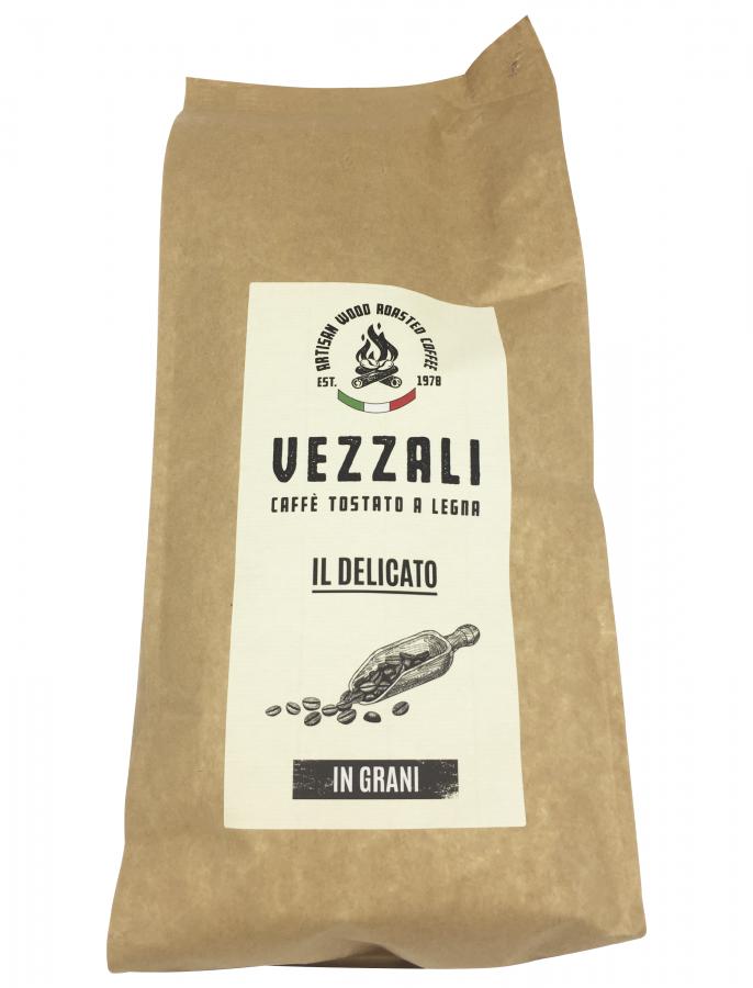 Кофе зерновой обжаренный на дровах Деликато Венеция 1000 г, Caffe Delicato Venezia, Vezzali 1000 g