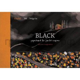 Альбом А4 10л.Kroyter блок черный 760гр/м 07514