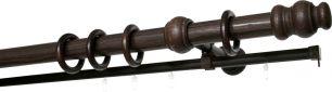 Карниз Уют 33В.D28 деревянный, двухрядный, Венге