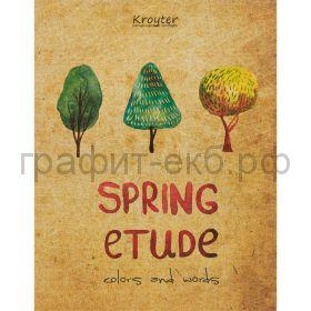 Тетрадь А5 48л.кл.Kroyter Spring Etude 06340
