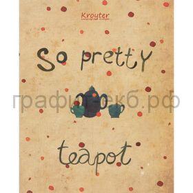 Тетрадь А5 48л.кл.Kroyter Teapot 06395