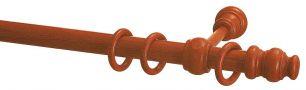Карниз Уют 27.D20 деревянный, однорядный, Вишня