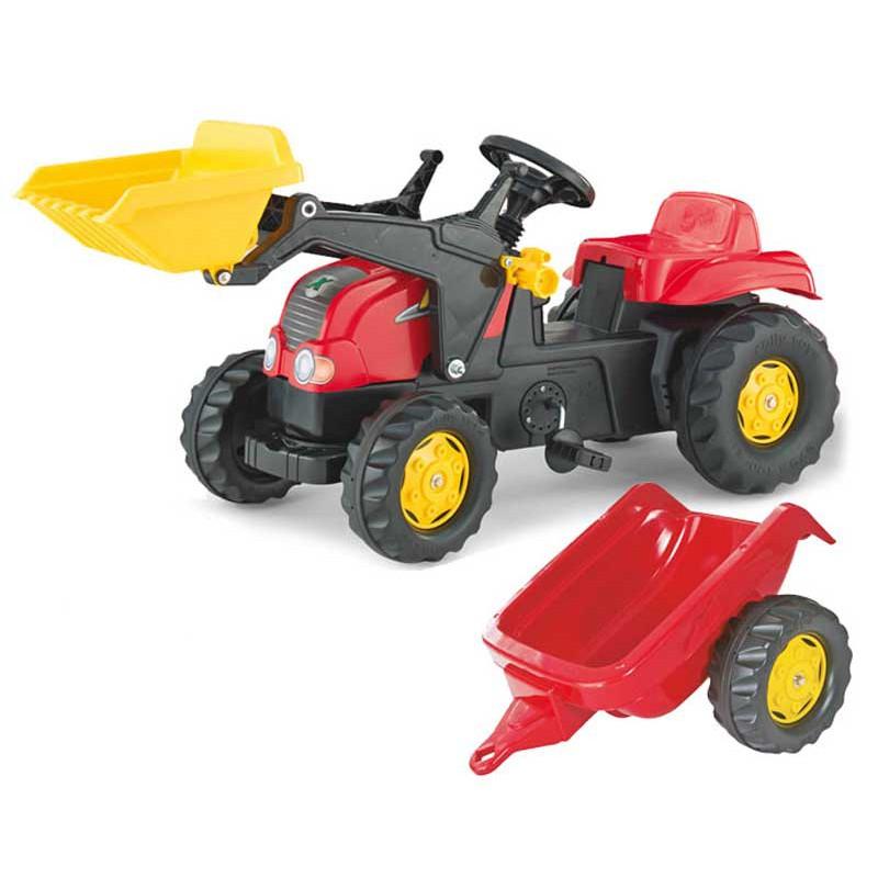 Педальный трактор с ковшом и прицепом - Rolly Toys rollyKid 2-5 лет 023127