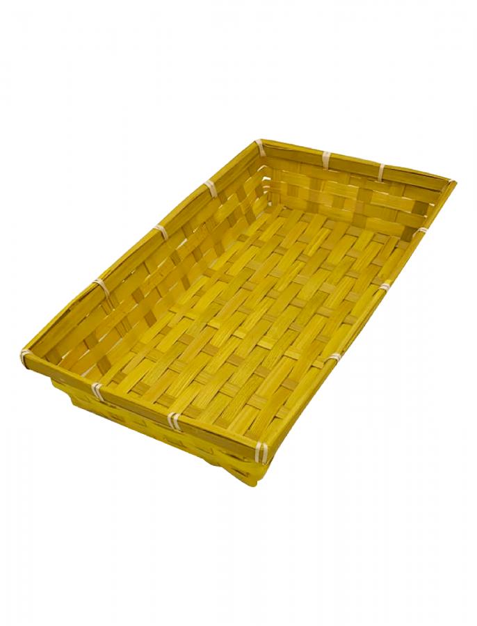 Поддон бамбуковый желтый 33х20х6 см, Grazia Dal Pozzo