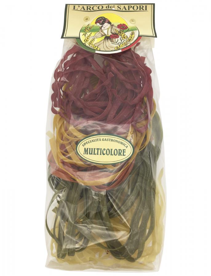 Тальятелле 5 вкусов 250 г , Tagliatelle ai 5 sapori Pastificio Curti 250 gr.