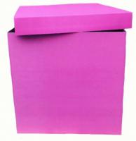 Фуксия коробка для шаров 60*60