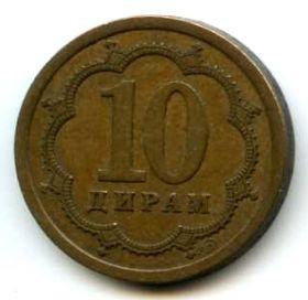 Таджикистан 10 дирамов 2006