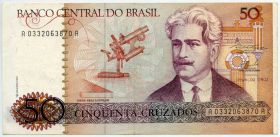 Бразилия 50 крузадо 1986