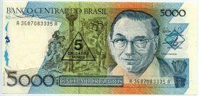 Бразилия 5 нов. крузадо 1989