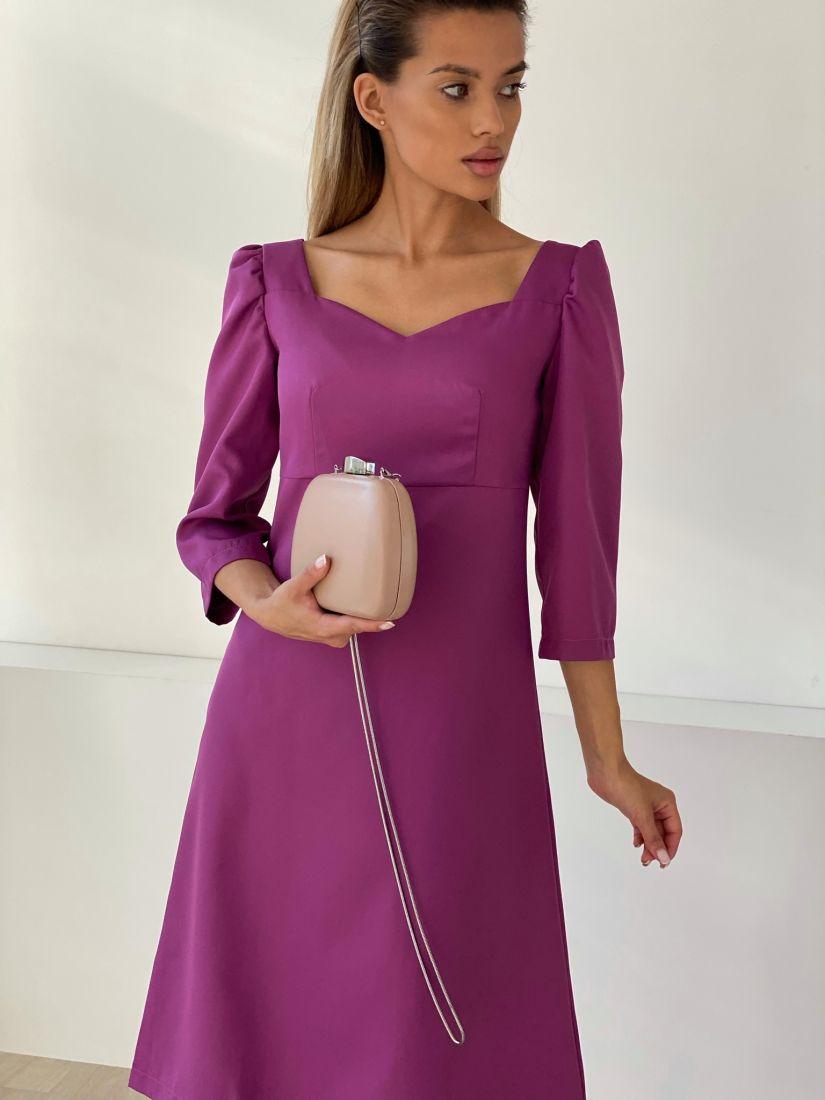 """3245 Платье в ретро-стиле в цвете """"пион"""""""