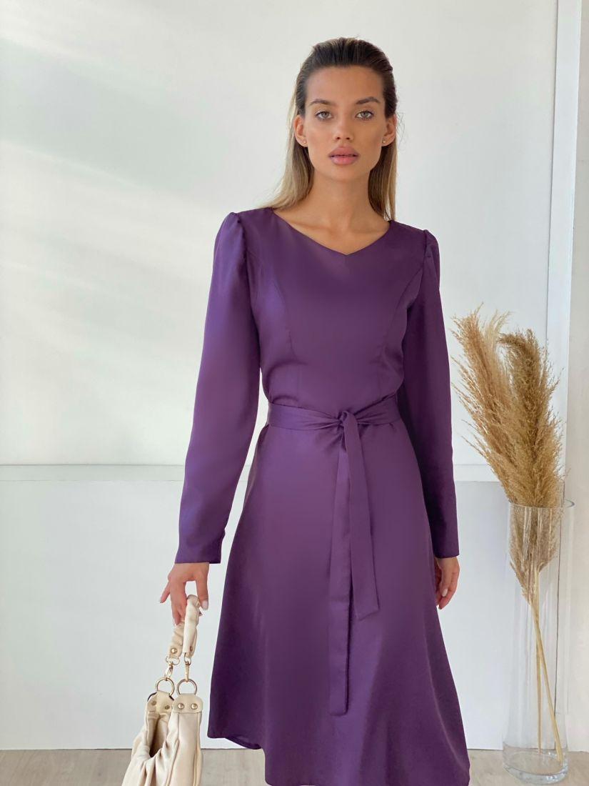 """3199 Платье с рельефами в цвете """"вино"""""""