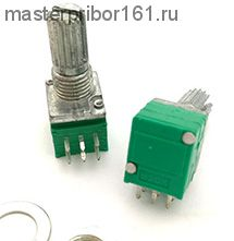 Потенциометр двойной RK097G  100 kOm