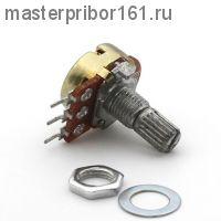 Потенциометр  WH148, 3PIN, 15мм , 1,0 мОм